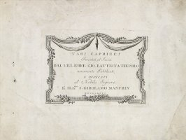Title Page from the series Vari Capricci