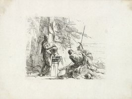 A Woman with her Hands on a Vase and A Soldier and a Slave from the series Vari Capricci
