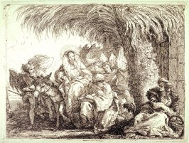 The Holy Family Under a Palm Tree, from the series Idée Pittoresche sopra la fugga in Egitto...(Picturesque Ideas on the Flight into Egypt...)