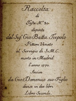 Title Page from Book Two of Raccolta di Teste numero trenta (Collection of Thirty Heads)