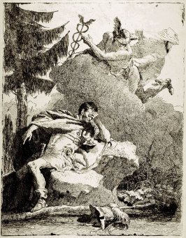 Mercury Appearing to Aeneas in a Dream; after the fresco in the Villa Valmarana, Vicenza