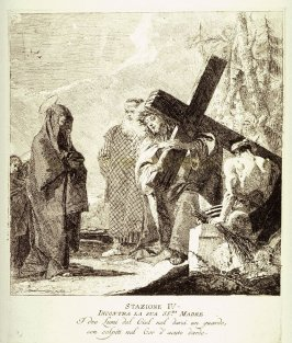 Christ meets his mother, Station 4 from the series Via Crucis (Stations of the Cross)