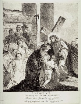 Christ consoles the weeping women, Station 8 from the series Via Crucis (Stations of the Cross)