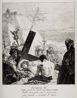 Christ falls beneath the cross the third time, Station 9 from the series Via Crucis (Stations of the Cross)
