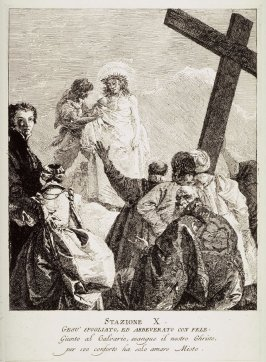 Christ is stripped of his garments, Station 10 from the series Via Crucis (Stations of the Cross)