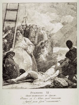 Christ is nailed to the Cross, Station 11 from the series Via Crucis (Stations of the Cross)