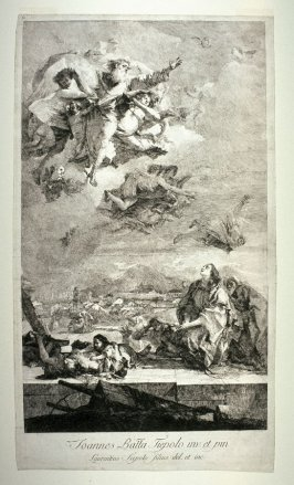 Saint Thecla Praying for the end of the plague in the city of Este, after the painting of 1759 by Giovanni Battista Tiepolo