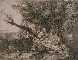 The Holy Family resting in a wood, from the series The Flight Into Egypt