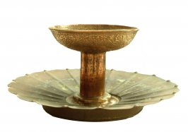 Centerpiece (Scallopped tray and Chalice form Cup)