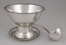 Footed bowl, tray, and spoon
