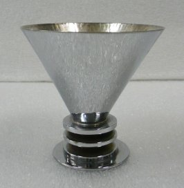 Deco style Footed Conical Cup