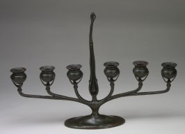 Six-candle candelabra