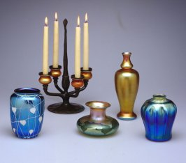 Four-candle candelabra