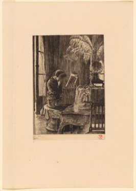 Renee Sitting at The Piano Crying, from Renee de Mauperin by E. and J. De Goncourt, Paris