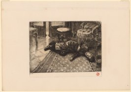 Renee Fainting After Hearing of Her Brother's Death in the Duel, from Renee de Mauperin by E. and J. De Goncourt, Paris