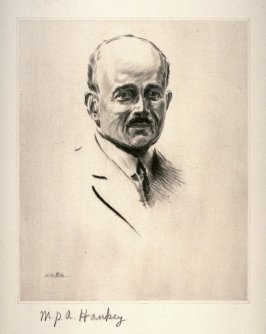 M.P.A. Hankey from Portraits of International Dignitaries to the International Naval Disarmament Conference