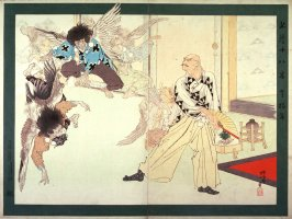 Hojo Takattoki Dancing with Phantom Goblins (Tengumai ) from the series Eighteen Examples of Valor (Meijo juhachiban)