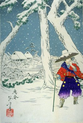 Omae in the midst of the snow (third in triptych)