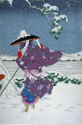 Omae in the midst of the snow (second in triptych)
