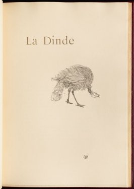 """La Dinde"" (the turkey) in the book Histoires naturelles (Natural History) by Jules Renard (Paris: Henri Floury, 1900)."