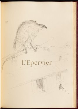 """L'Epervier"" (the sparrow-hawk) in the book Histoires naturelles (Natural History) by Jules Renard (Paris: Henri Floury, 1900)."