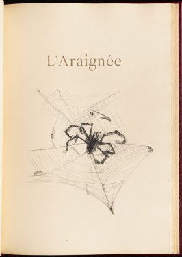 """L'Araignée"" (the spider) in the book Histoires naturelles (Natural History) by Jules Renard (Paris: Henri Floury, 1900)."