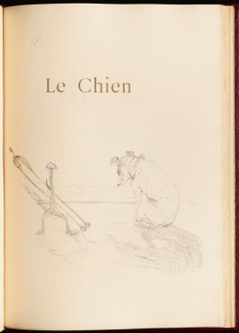 """Le Chien"" (the dog) in the book Histoires naturelles (Natural History) by Jules Renard (Paris: Henri Floury, 1900)."