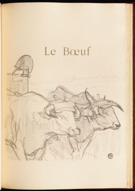 """Le Bœuf"" (the ox) in the book Histoires naturelles (Natural History) by Jules Renard (Paris: Henri Floury, 1900)."