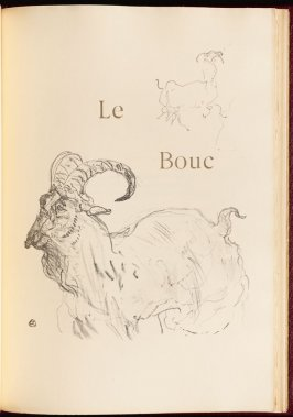 """Le Bouc"" (the ram) in the book Histoires naturelles (Natural History) by Jules Renard (Paris: Henri Floury, 1900)."