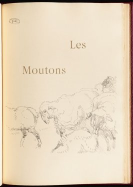 """Les Moutons"" (the sheep) in the book Histoires naturelles (Natural History) by Jules Renard (Paris: Henri Floury, 1900)."