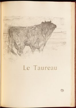 """Le Taureau"" (the bull) in the book Histoires naturelles (Natural History) by Jules Renard (Paris: Henri Floury, 1900)."