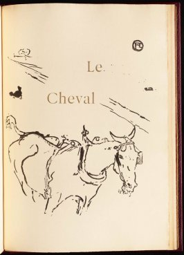 """Le Cheval"" (the horse) in the book Histoires naturelles (Natural History) by Jules Renard (Paris: Henri Floury, 1900)."