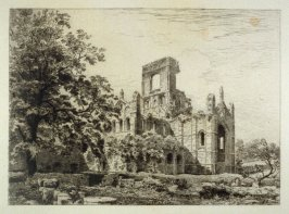 Kirkstall Abbey from the South East - No.VII from Ruined Abbeys of Yorkshire