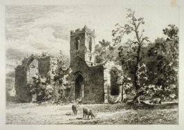 Mount Grace Priory- No.IX from Ruined Abbeys of Yorkshire