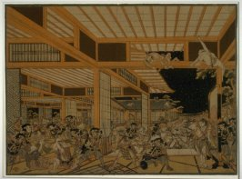 Night Attack on Kira's Mansion by the 47 Ronin (Chushingura, Act XI)