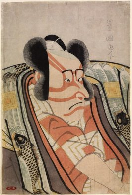 The Actor Ichikawa Danjūrō VI as a Young Nobleman, from an untitled series of half-length portraits of actors