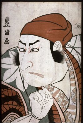 Ichikawa Omezo as a Woodcutter, from an untitled series of bust potraits of actors