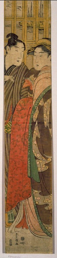 Courtesan and Client in a Brothel near Takanawa