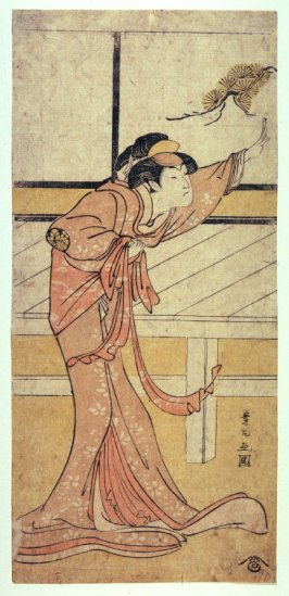 Nakayama Tomisaburo,  perhaps as Okaru in Act 7 of Chushingura, panel from a polyptych