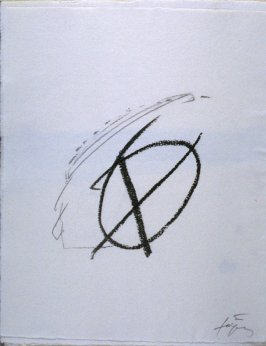 Untitled, abstract illustration # 13, in the suite, for the book Air by André du Bouchet (Paris: Maeght Editeur, 1971)