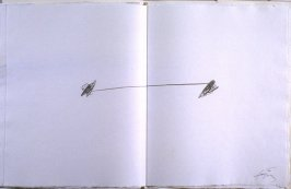 Untitled, abstract illustration # 9, in the suite, for the book Air by André du Bouchet (Paris: Maeght Editeur, 1971)