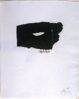 Untitled, abstract illustration # 5, in the suite, for the book Air by André du Bouchet (Paris: Maeght Editeur, 1971)