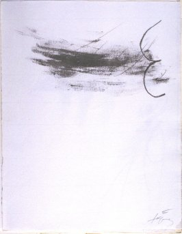 Untitled, abstract illustration # 2, in the suite, for the book Air by André du Bouchet (Paris: Maeght Editeur, 1971)