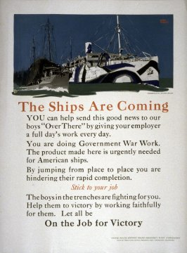 The Ships Are Coming - World War I Poster