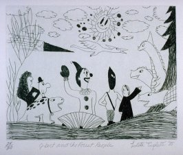 Q-bert and the Forest People, ninth plate from the portfolio, Personal Expericence