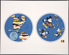 Untitled (World Map and Mickey Mouse)