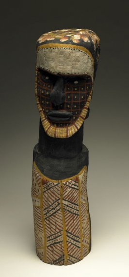Burial pole Male Tiwi Figure