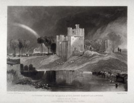 Plate 13: Brougham Castle near the junction of the Rivers Eamont and Lowther, from the series 'The Rivers of England' (1823-1827)
