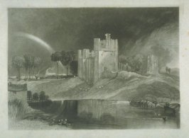 Plate 13: Brougham Castle near the Junction of the Rivers Eamont and Lowther, from the series 'The Rivers of England'