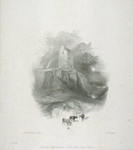 Smailholm (?) Tower, from Scott's Poetical Works